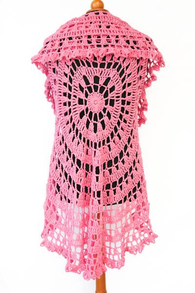 Crochet Circular Vest Lxl Aurelias Little Room