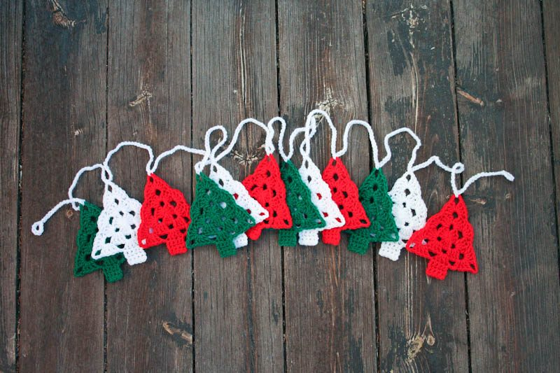 Crochet Christmas Tree Garland Bunting Aurelia S Little Room